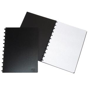 Notizheft Adoc 6099.740 A4, 4 mm kar., mit Kunststoffumschlag, 72 Blatt, schwarz