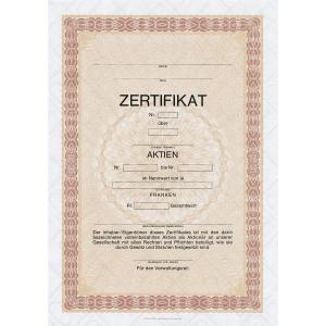 Aktienzertifikat A4, deutsch, Packung à 10 Blatt