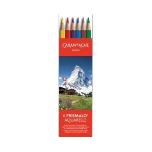 Farbstift Caran d Ache Prismalo I 999.306, 6er-Set in Kunststoffschachtel