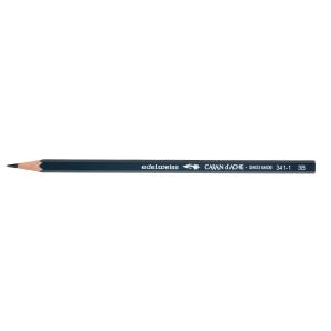 Bleistift Caran d Ache 341-1, 3B, dunkelgrau, Packung à 12 Stück