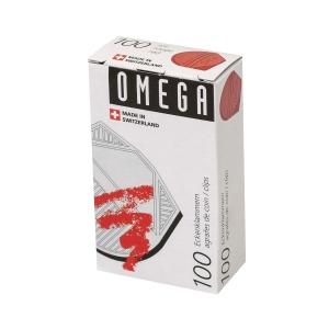 Eckenklammern Omega, rot, Packung à 100 Stück