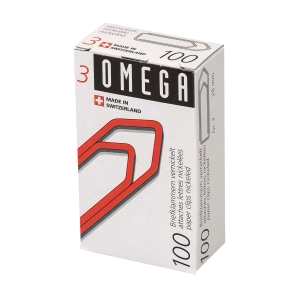 Büroklammern Omega 3/100, 28 mm, Packung à 100 Stück