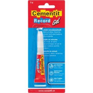 Minutenkleber Cementit Record Gel, 3 g