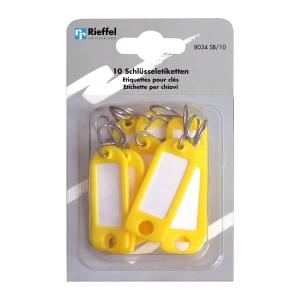 Schlüssel-Schilder Typ 8034, gelb, Packung à 10 Stück