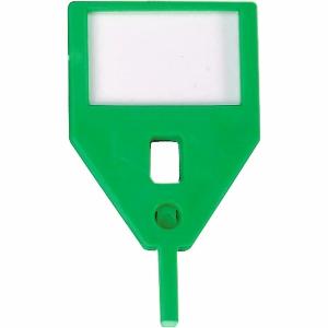Schlüsselanhänger KyStor KR-A, grün, Packung à 10 Stück
