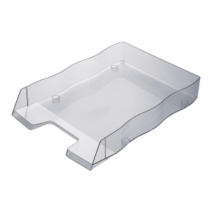 Briefkorb Styrofile, C4, rauch transparent