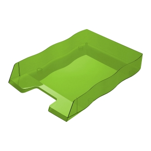 Briefkorb Styrofile, C4, grün transparent