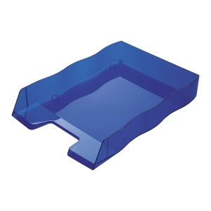 Briefkorb Styrofile, C4, blau transparent