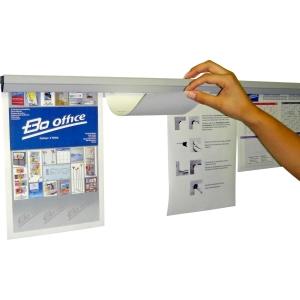 Papierschiene Gripdoc, Länge 118 cm, hellgrau