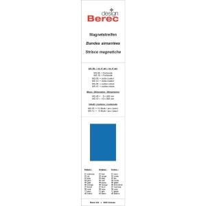 Magnetstreifen Berec Design 10x300 mm, blau, Packung à 6 Stück