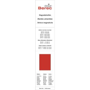 Magnetstreifen Berec Design 10x300 mm, rot, Packung à 6 Stück