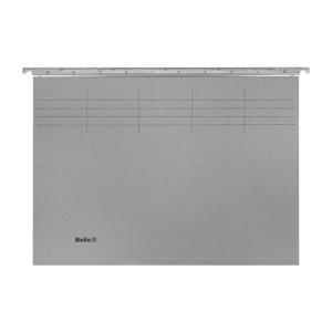 Hängemappe Biella Original A4, 25 cm tief, grau, Packung à 50 Stück