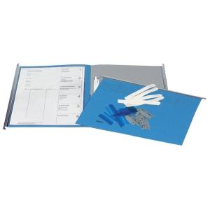Hängemappe VetroMobil Register 271430, mit Zubehör, 6teilig, blau, Pk. à 10 Stk.