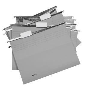 Hängemappe Biella Original 271255, 25 cm tief, grau, Packung à 25 Stück