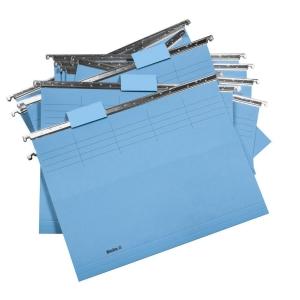Hängemappe Biella Original 271255, 25 cm tief, blau, Packung à 25 Stück