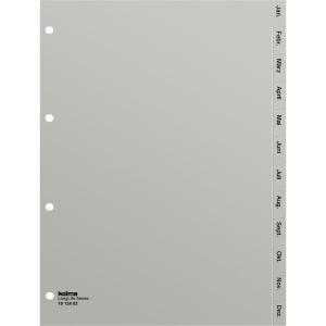 Register Kolma LongLife 1912403 A4, Kunststoff, Januar-Dezember, grau