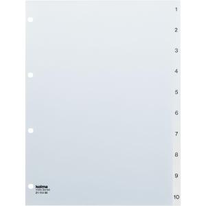 Register Kolma Vista A4, Kunststoff, 1-10, farblos