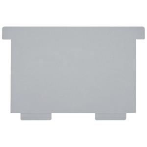 Schwenkplatte zu Karteikasten Styro A7 quer, grau, Packung à 2 Stück