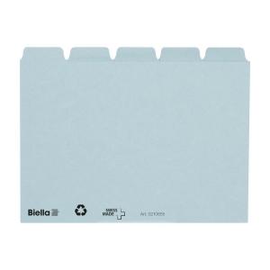 Leitkartenregister Biella 210655 A6, blanko, 25teilig, 5/5 Fahnen, blau