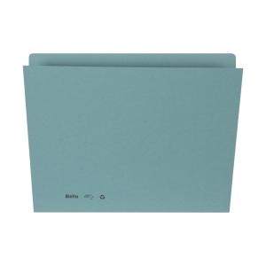 Einlagemappe für A4 31,7x22/23,5 cm, 240 g/m2, blau, Pk. à 100 Stk