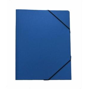 Gummizugmappe Erola A4, Presspan 650 g/m2, blau