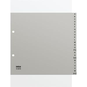 Register Kolma, A4 teildeckend, PP, A-Z, grau
