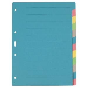 Register A4, Karton 210 g/m2, 12teilig, farbig