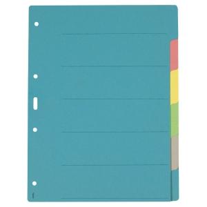 Register A4, Karton 210 g/m2, 6teilig, farbig