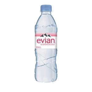 Evian Mineralwasser ohne Kohlensäure 50 cl, Packung à 6 Flaschen