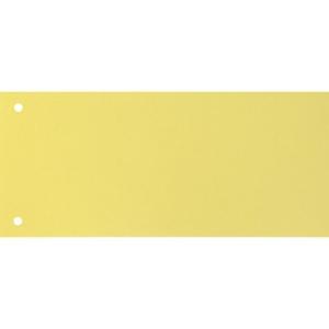 Trennstreifen Exacompta 13425B 240x105 mm, Karton 190 g/m2, gelb, Pk. à 100 Stk.