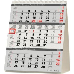 Tischplaner Biella Desktop Delta 887020, 3 Monate pro Seite, Karton