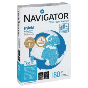 Kopierpapier Navigator Hybrid A4, 80 g/m2, 30% Recycling, FSC, Pk.à 500 Bl.