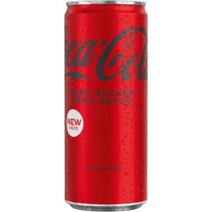 Coca-Cola Zero 33 cl, Packung à 24 Dosen