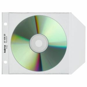 CD/DVD Zeigbuchtaschen Kolma, SuperStrong, für 1 CD/DVD, Packung à 25 Stück