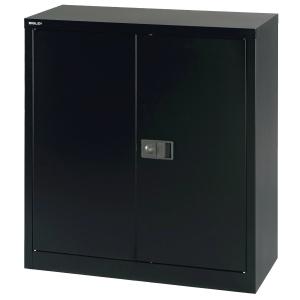 Schrank Bisley Economy, Flügeltür, 1 Boden, 91,4x40x100 cm (BxTxH), schwarz