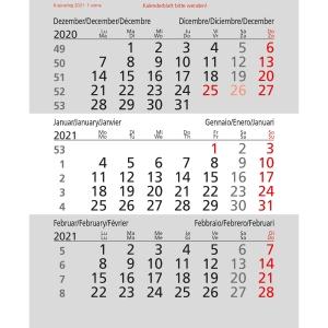 Ersatzkalendarium zu Tischplaner 5039, 3 Monate pro Seite
