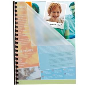 Umschlagdeckel Pavo A4, 280 my, transparent, Packung à 100 Stück