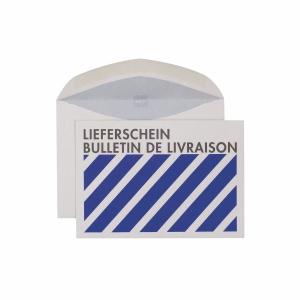 Couvert Elco  Lieferschein  30115, C6, 80 gm2, grau/blau, Packung à 500 Stück