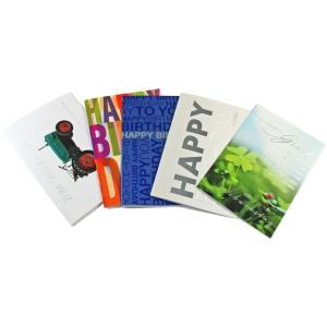 Doppelkarte ABC 90991, Geburtstag, 117x173 mm, 5 Motive, Packung à 10 Stück