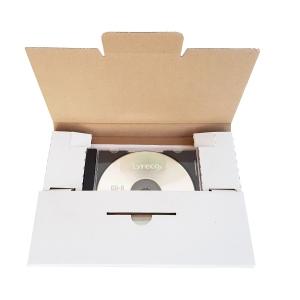 Versandcouvert Brieger 100146, C5, für CDs, mit Steckverschluss, weiss
