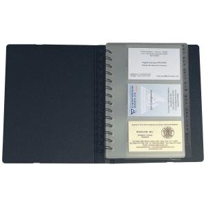Visitenkarten Zeigbuch Exacompta Exacard 75034E 148x202 mm,Index A-Z, schwarz