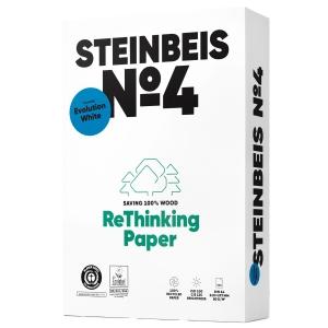 Kopierpapier Steinbeis Evolution White A4, 80 g/m2, Recycling, Pk. à 500 Bl.