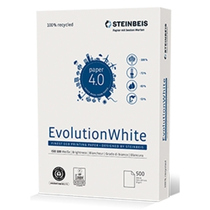 Kopierpapier Steinbeis Evolution White A3, 80 g/m2, Recycling, Pk. à 500 Bl.
