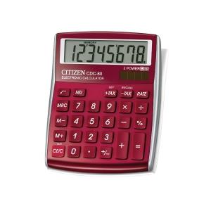 Tischrechner Citizen CDC-80, 8-stellige Anzeige, bordeaux