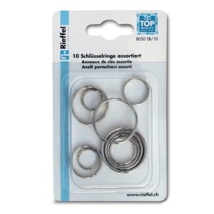 Schlüssel-Ringe Rieffel, 16-35 mm, Packung à 10 Stück