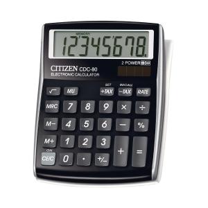 Tischrechner Citizen CDC-80, 8-stellige Anzeige, schwarz