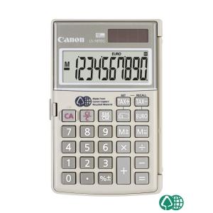 Taschenrechner Canon LS-10TEG, 10-stellige Anzeige, grau