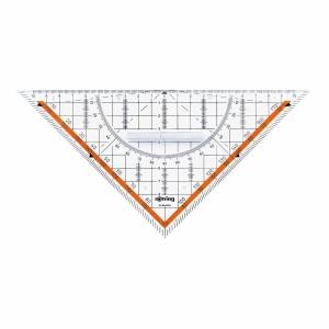 Geo-Dreieck Rotring Centro, 23 cm, mit Griff, transparent