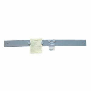 Magnetschiene Berec, 100x8 cm, inkl. 4 Magnete, grau