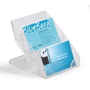 Visitenkartenhalter Durable, quer, 4 teilig, transparent